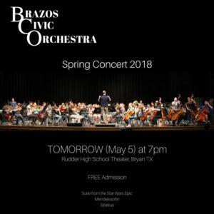 Brazos Civic Orchestra Social Media Post