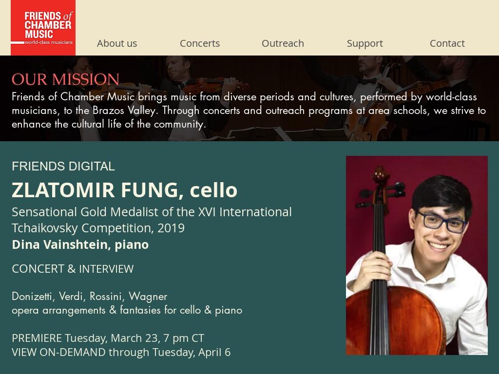Friends of Chamber Music, TX fcmtx.org